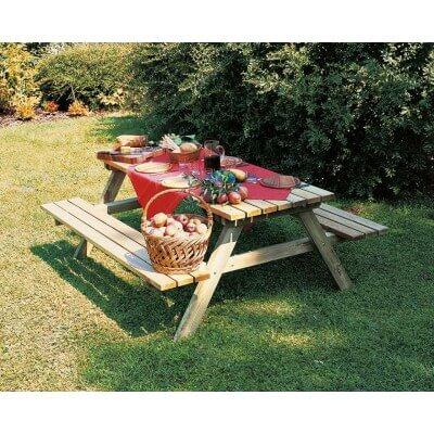 Tavolo da Picnic 1800x1700 H 750 mm