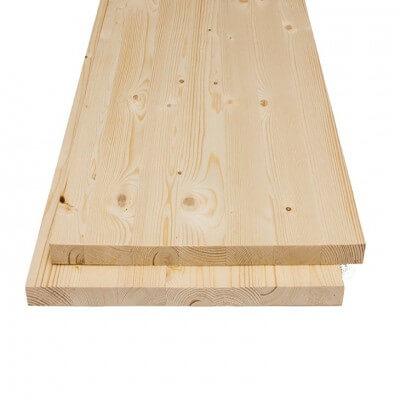 Spruce glued panel 18x2500x400 mm