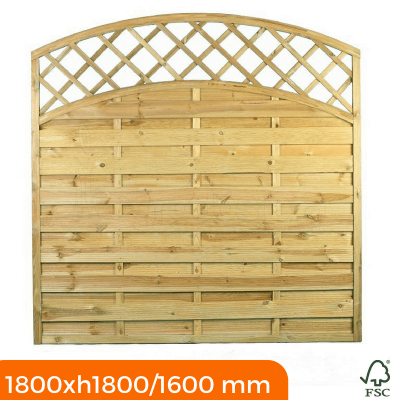 Fence Panel with trellis top 1800x1800x1600 mm