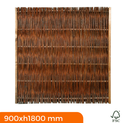 Thick willow fence panels 900x1800 mm