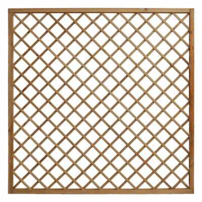 Grigliato in legno autoclave 1800x1800 maglia 120 mm