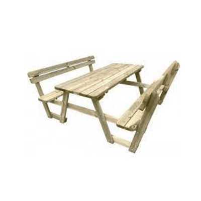 Set in legno da Picnic 1800x1900 altezza 750 mm