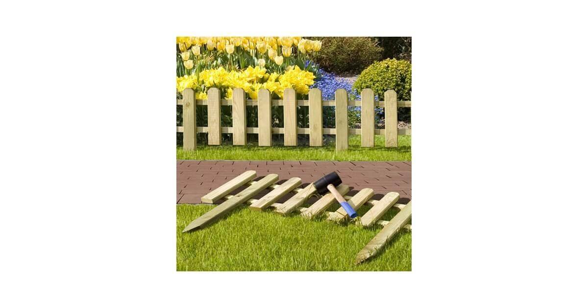 Recinzioni Per Giardino In Legno.Bordura Rollborder Per Aiuole Giardino Recinzione Steccato In